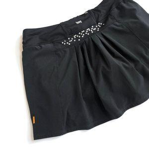 Lucy tech black athletic skirt skort